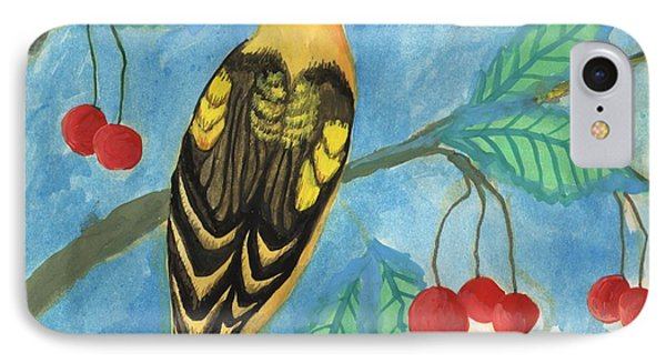 Detail Of Golden Orioles In A Cherry Tree IPhone Case