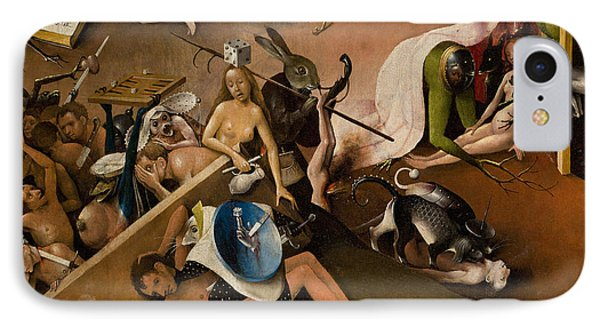 Detail Of Right Panel Showing Hell  The Garden Of Earthly Delights IPhone Case