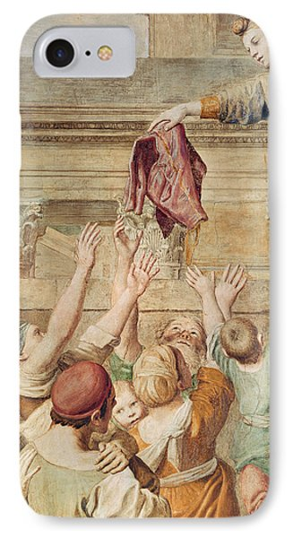 Detail Of Saint Cecilia Distributing Alms IPhone Case by Domenichino