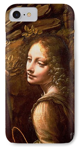 Detail Of The Angel From The Virgin Of The Rocks  Phone Case by Leonardo Da Vinci