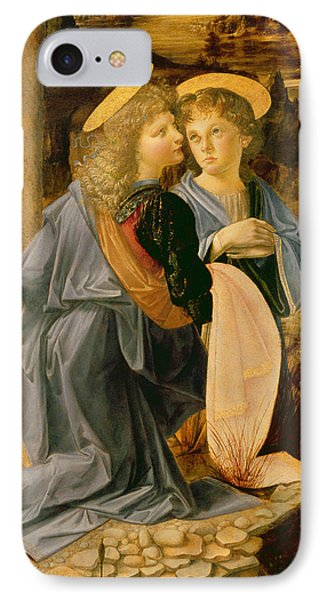 Detail Of The Baptism Of Christ By John The Baptist IPhone Case by Andrea Verrocchio and