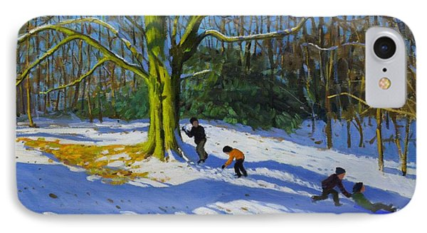 Detail Of Top Of Allestree Park IPhone Case by Andrew Macara