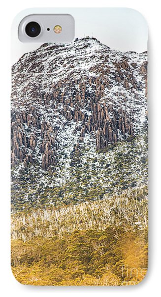 Detail On A Australian Snow Covered Mountain IPhone Case