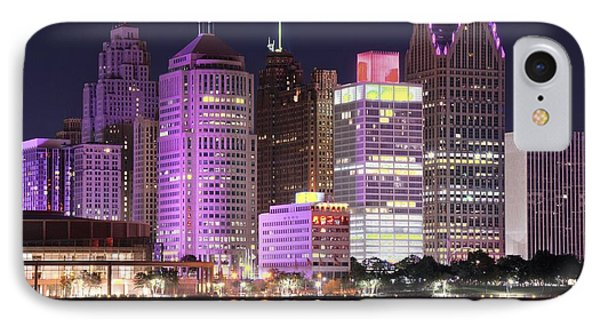 Detroit Full Moon IPhone Case by Frozen in Time Fine Art Photography