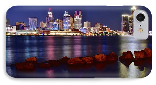 Detroit Lights 2 IPhone Case by Frozen in Time Fine Art Photography