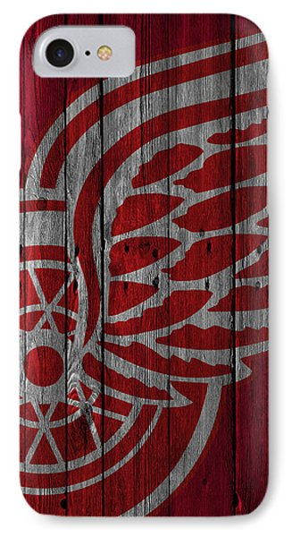 Detroit Red Wings Wood Fence IPhone Case by Joe Hamilton