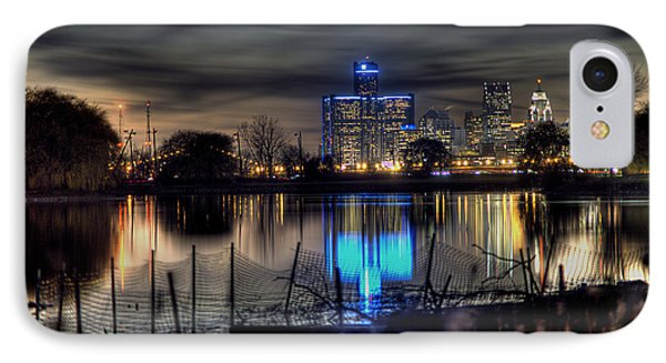 Detroit Reflections IPhone Case by Nicholas  Grunas
