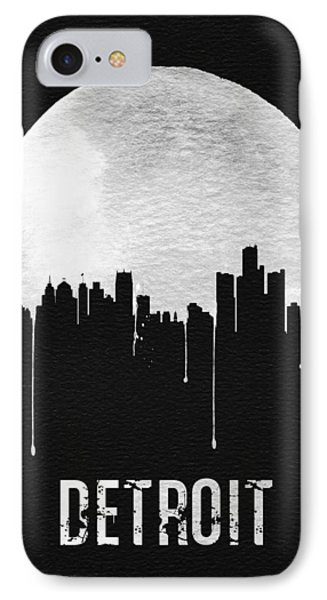 Detroit Skyline Black IPhone Case by Naxart Studio