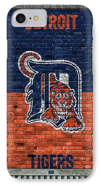 Detroit Tigers Brick Wall IPhone Case by Joe Hamilton