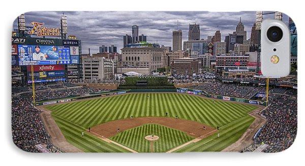 Detroit Tigers Comerica Park 4837 IPhone Case by David Haskett