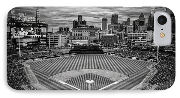 Detroit Tigers Comerica Park Bw 4837 IPhone Case by David Haskett
