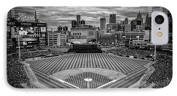 Detroit Tigers Comerica Park Bw 4837 IPhone Case