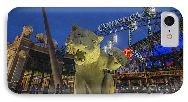 Detroit Tigers Comerica Park Front Gate Tiger IPhone Case