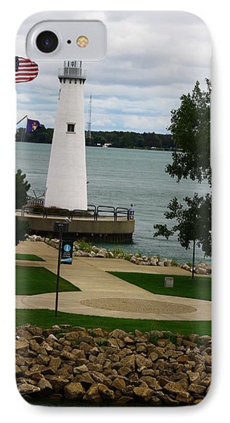 Detroit Waterfront Lighthouse IPhone Case