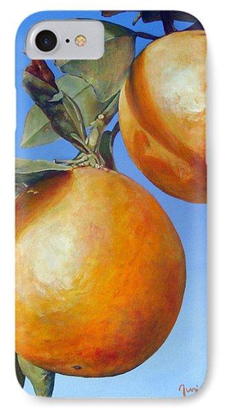 Deux Oranges Phone Case by Muriel Dolemieux