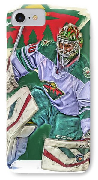 Devan Dubnyk Minnesota Wild Oil Art IPhone Case