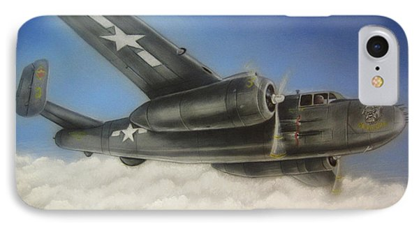 Devil Dog Airplane In Flight IPhone Case by Jonathan Anderson