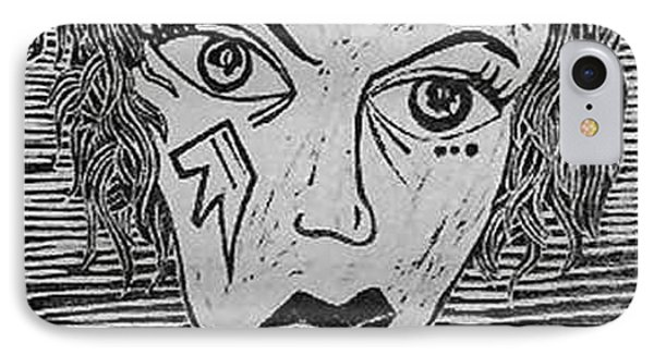 Devil Print Two Out Of Five  Phone Case by Thomas Valentine