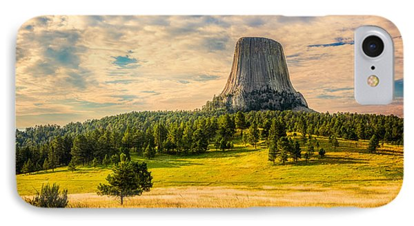 IPhone Case featuring the photograph Devil's Tower - The Other Side by Rikk Flohr