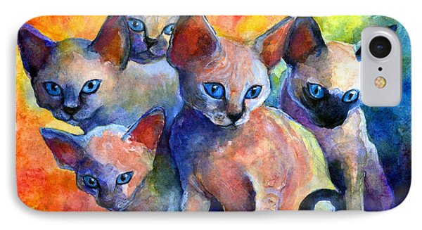 Devon Rex Kitten Cats IPhone 7 Case by Svetlana Novikova