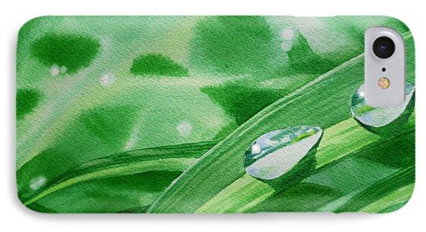 Dew Drops Phone Case by Irina Sztukowski