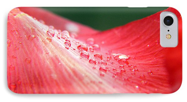 Dew Drops On A Wave Of Red IPhone Case