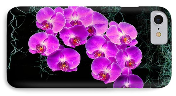 Dew-kissed Orchids Phone Case by Sue Melvin