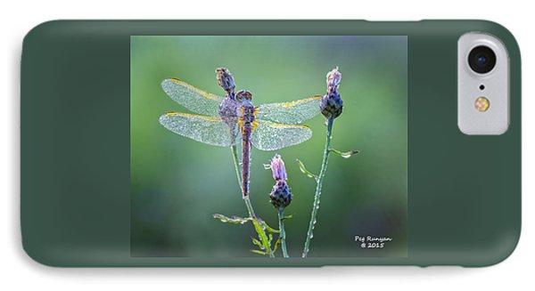 Dew Laden Dragonfly IPhone Case