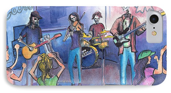 IPhone Case featuring the painting Dewey Paul Band by David Sockrider