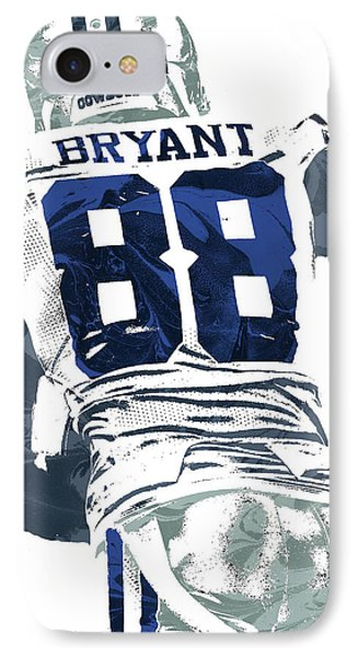 IPhone Case featuring the mixed media Dex Bryant Dallas Cowboys Pixel Art 6 by Joe Hamilton