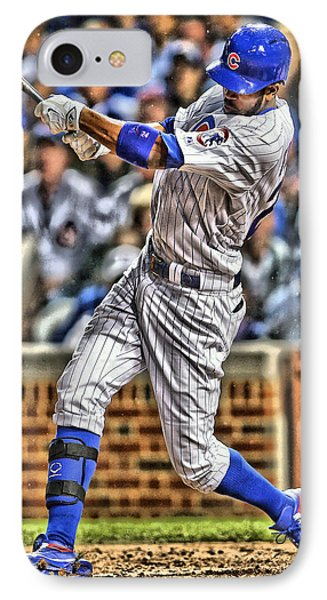 Dexter Fowler Chicago Cubs IPhone Case by Joe Hamilton