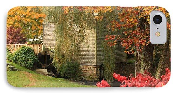 Dexter Grist Mill Autumn Cape Cod IPhone Case by John Burk