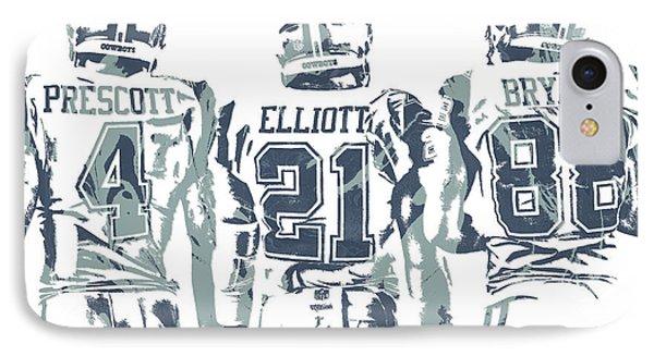 cc904f5366728b Ezekiel Elliott iPhone 7 Case - Dez Bryant Ezekiel Elliott Dak Prescott  Dallas Cowboys Pixel Art