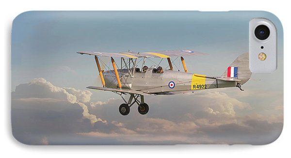 IPhone Case featuring the digital art Dh Tiger Moth - 'first Steps' by Pat Speirs