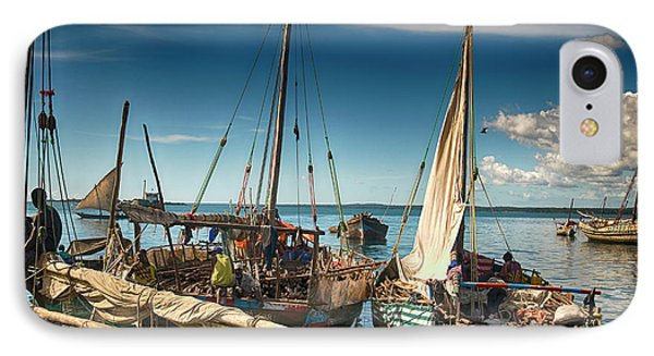 Dhow Sailing Boat IPhone Case by Amyn Nasser