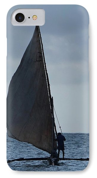 Dhow Wooden Boats In Sail IPhone Case by Exploramum Exploramum