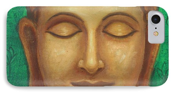 Dhyana Buddha IPhone Case by Nayna Tuli Fineart