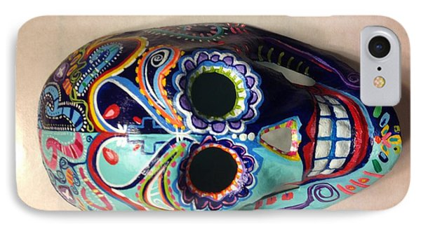 IPhone Case featuring the painting Colorful Life Mask Adode Homes Auction by Patti Schermerhorn