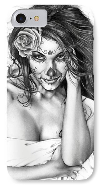 Dia De Los Muertos 2 IPhone Case by Pete Tapang