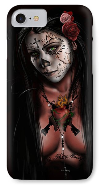 Dia De Los Muertos 3 IPhone Case by Pete Tapang