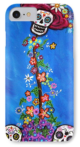 IPhone Case featuring the painting Dia De Los Muertos by Pristine Cartera Turkus