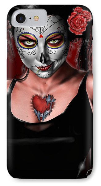 Dia De Los Muertos The Vapors Phone Case by Pete Tapang