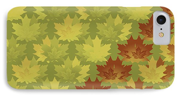 Diagonal Leaf Pattern IPhone Case by Methune Hively