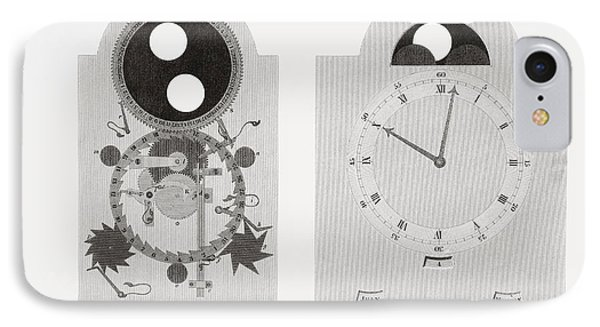Dial Work Of A Clock Showing Moon S IPhone Case