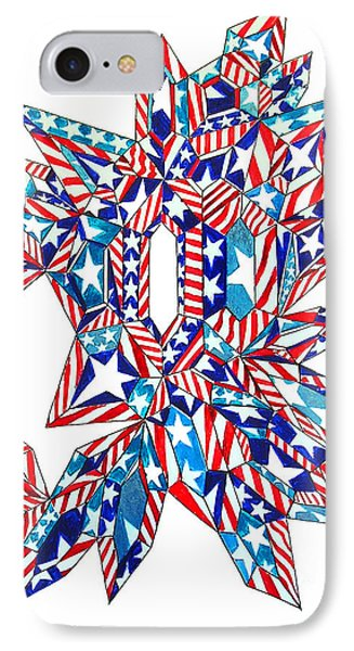 Diamond Crystal. American Flag Reflected Into It IPhone Case by Sofia Metal Queen