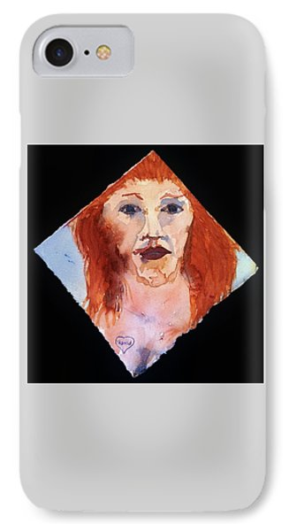 IPhone Case featuring the painting Diamond Girl by Rand Swift