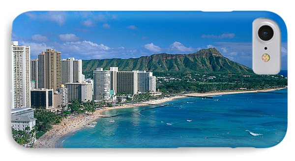Diamond Head And Waikiki IPhone Case by William Waterfall - Printscapes
