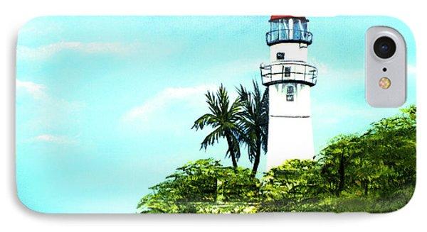 Diamond Head Lighthouse #10 Phone Case by Donald k Hall