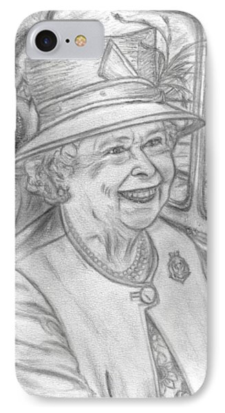 IPhone Case featuring the drawing Diamond Jubilee by Teresa White