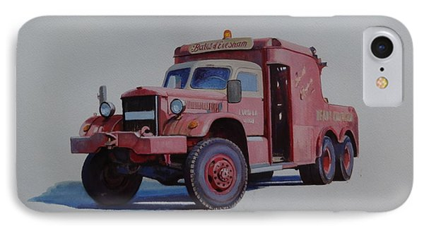 IPhone Case featuring the painting Diamond T Wrecker. by Mike Jeffries